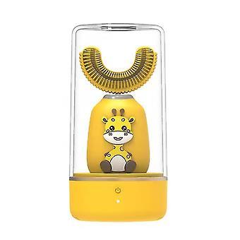 Yellow automatic 360¡ã electric toothbrush u-type teeth whitening for kid/children az8561