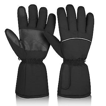 Sort clispeed 1 par opvarmede handsker varme termiske handsker elektriske varmehandsker til vinter udendørs aktiviteter skiløb vandreture størrelse xl (sort) dt3016
