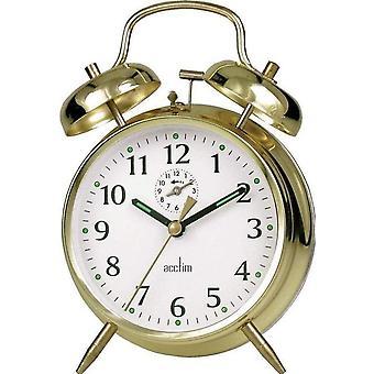 Acctim Saxon Bell Alarm Clock Brass