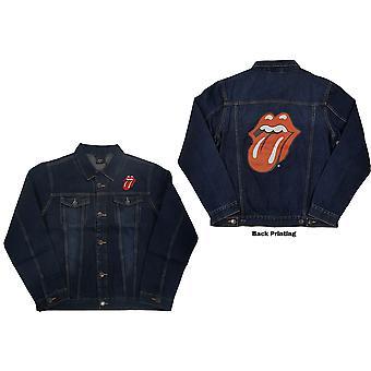 The Rolling Stones - Classic Tongue Unisex XX-Large Denim Jacket - Bleu