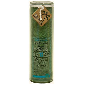 Aloha Bay Candle Chakra Jar, Unscented Green,16 OZ