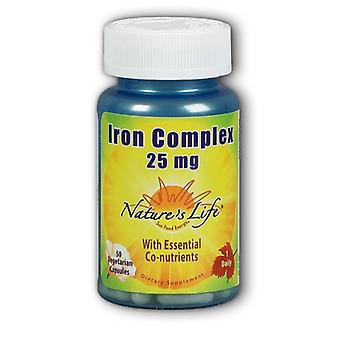 Nature's Life Iron Complex, 25 mg, 50 vcaps