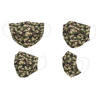 Hygienic Reusable Fabric Mask Adult Green Camouflage