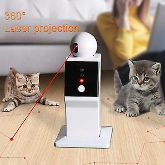 USB Cat Interactive Toy LED Laser Funny Toy 360 Obrotowy Trening Ćwiczeń Kota Entertaining Toy