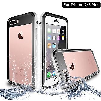 iPhone 7/8 Plus Wasserdicht Stoßfest Hülle, IP68 Zertifiziert Schutzhülle Staubdicht mit Eingebautem