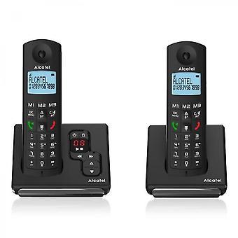 Alcatel svart trådlös telefon
