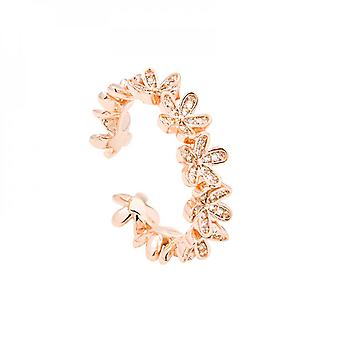 Micro-inlaid Delicate Flower Opening Can Adjust Female Ring Contracted Fashion Joker