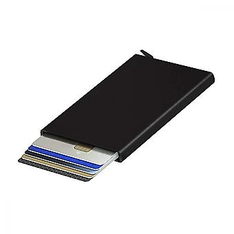 Metal Card Case, Contactless Credit Card Holder Wallet For Wallet Men's Minimalist Ultra Thin, Black