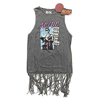 AC/DC Liivi Likaiset teokirjat Tehty Logo Virallinen Naisten Mekko Toppi Tassels