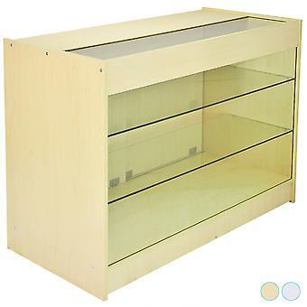 Afsluitbare retail glazen plank kast / Maple Store showcase teller - K1200