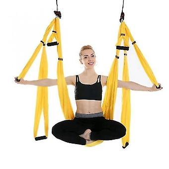 Rede de yoga aérea 6 alças cinta casa academia pendurado cinto swing anti-gravidade tração aérea