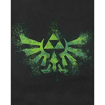 Zelda Mens Green Triforce Logo T-Shirt