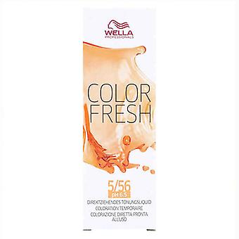 Semi-permanent Colourant Color Fresh Wella Nº 5.56 (75 ml)