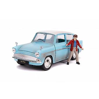Ford Anglia Diecast Model Car avec Harry Potter Figure de Harry Potter