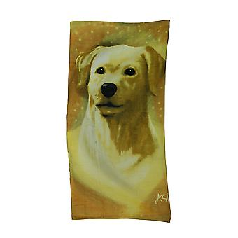Golden Labrador Retreiver Dog Velour Beach Towel 30 X 60 in.
