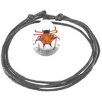 Real Scorpion Adjustable Nylon Cord Necklace Glowing