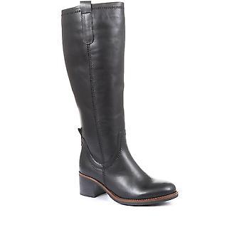 Gabor Womens Leather Block Heel Boots