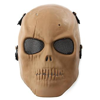 Outdoor chairs tactical airsoft full face protective skull mask paintball cs war game mud style
