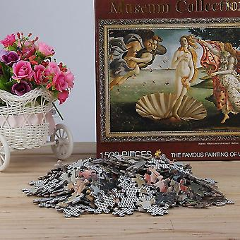 Jigsaw puzzles 1500 pcs/set diy oil painting puzzles wooden paper puzzles for adult and kids
