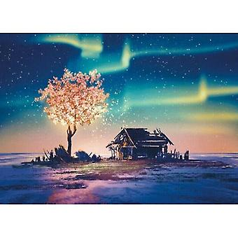 Card games 1000 pieces jigsaw puzzles games aurora scenery kid adult toy christmas gift family time