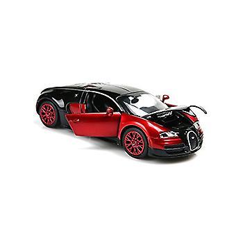 Modelo de coches, 1:32 Bugatti Veyron Alloy Diecast Cars con luz y sonido (rojo)