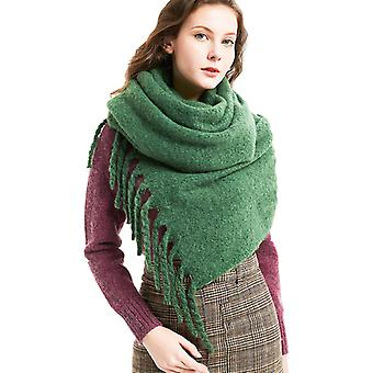 Scarf Winter Tassel Solid Color Scarf Ladies Thick Warm Men's Shawl