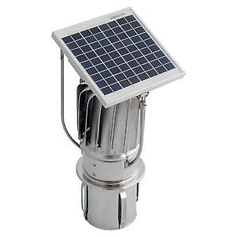 Stainless Steel Hybrid Chimney Exhaust Assisting Cowl with Solar Panel 150mm Tulipan Version