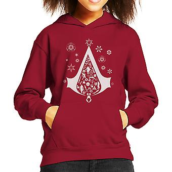 Christmas Tree Assassins Creed Kid's Hooded Sweatshirt