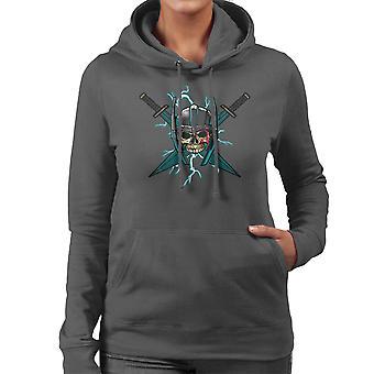 Ragnarok Thor Skull Cross zwaarden vrouw Hooded Sweatshirt