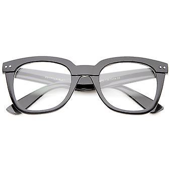Moderne klobige breite Rahmenbügel Lichtscheibe quadratische Horn umrandeten Brille 51mm