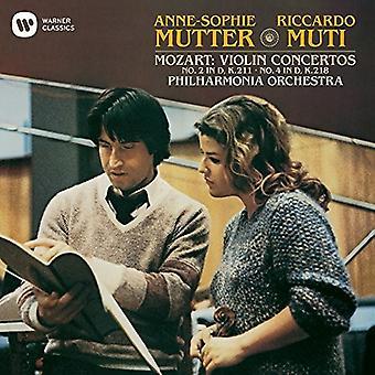Anne-Sophie Mutter - Mozart: Violin Concerto No. 2 & 4 [CD] USA import