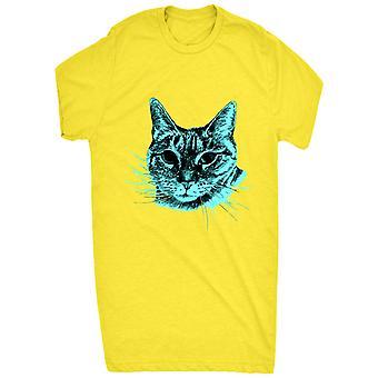 Cute Neon Blue Cat For Women