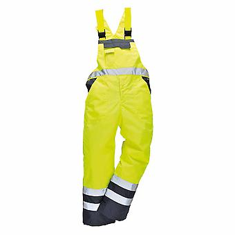 sUw - Hi-Vis Contrast Safety Workwear Bib & Brace Dungarees - Unlined