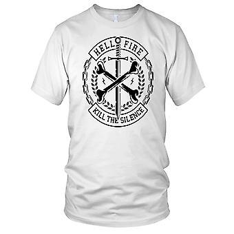 L'inferno fuoco uccidere il silenzio croce ossa Ladies T Shirt