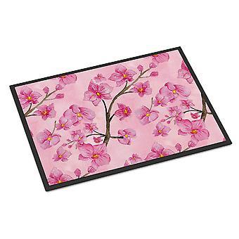 Watercolor Pink Flowers Indoor or Outdoor Mat 24x36