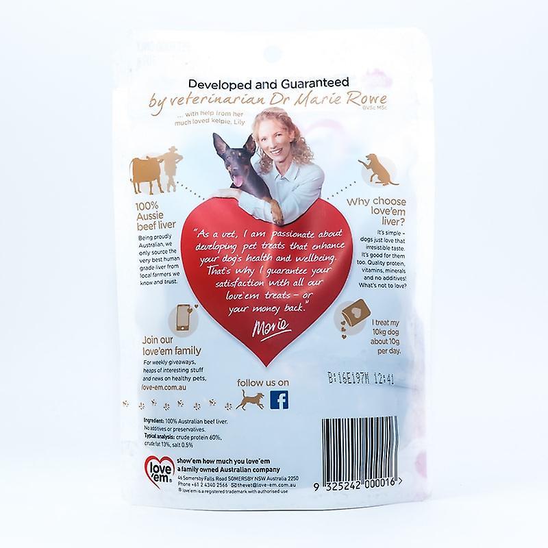 Love'em Beef Liver Treats 100gm