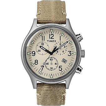 Timex heren horloge MK1 Steel Chronograph 42 mm stof armband TW2R68500