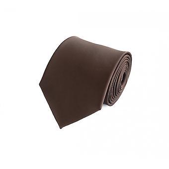 Schlips Krawatte Krawatten Binder 8cm braun uni Fabio Farini