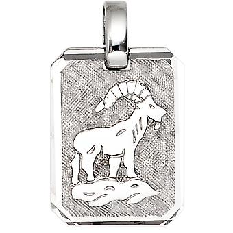 Trailer zodiac sign Capricorn 925 sterling silver rhodium plated partly frosted