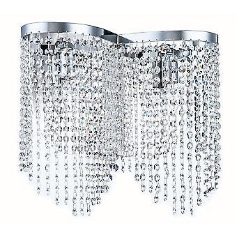 Maytoni verlichting strikken Diamant Crystal Schans, nikkel