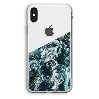 iPhone-XS Transparant Tasche (Soft) - Ocean Wave