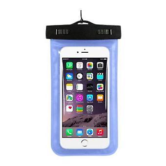 Stoff zertifiziert® Wasserdichte Tasche Tasche Universal iPhone Samsung Huawei Blue - Bis zu 5.8