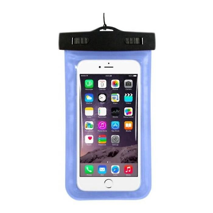 Stuff Certified ® Waterproof Case Pouch Bag Universal iPhone Samsung Huawei Blue - Up to 5.8