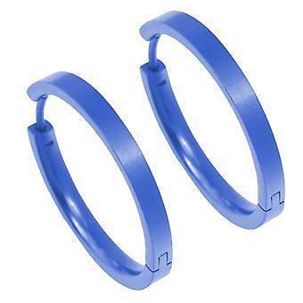 עגילי Ti2 טיטניום בינוניים עם כחול