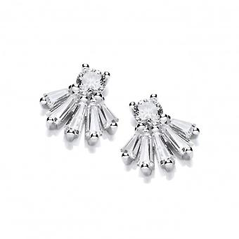 Cavendish French Regal Silver & Cubic Zirconia Stud Earrings