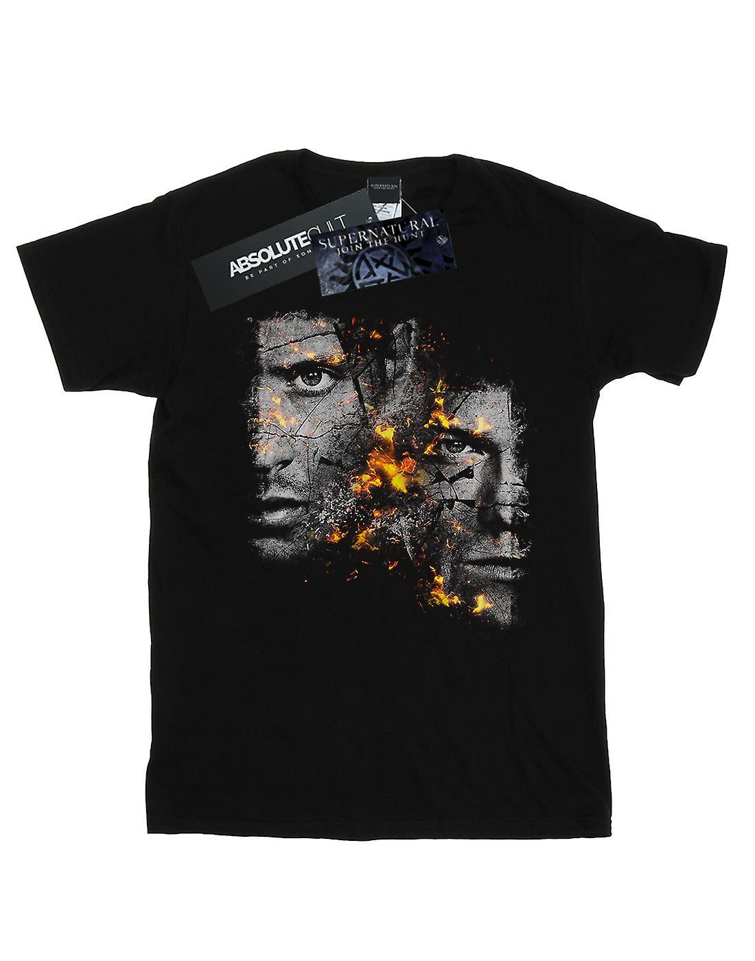 Supernatural Men's Sam And Dean Fire T-Shirt