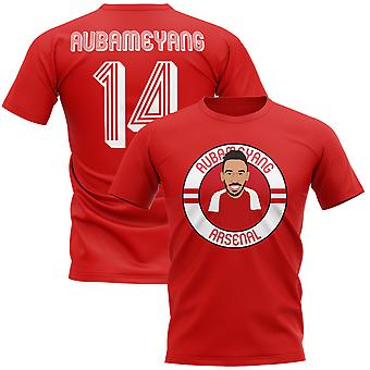 Pierre-Emerick Aubameyang Arsenal Illustration T-Shirt (rot)