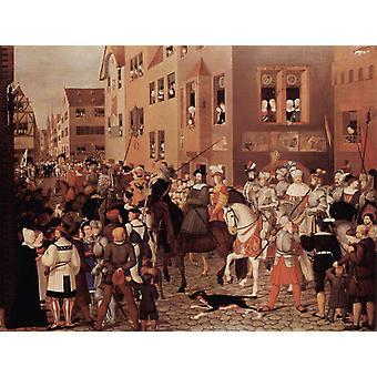 Eintritt kaiser Rudolf von Habsburg in, Franz Pforr, 50x40cm