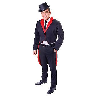 Tailcoat. Black/Red