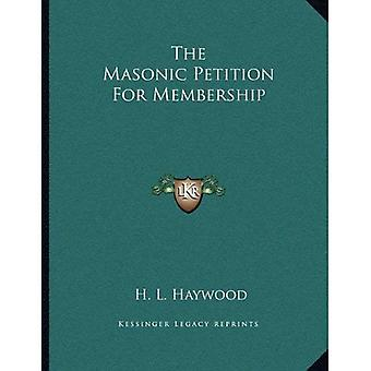 The Masonic Petition for Membership